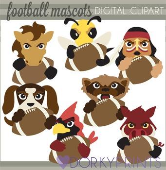 Football Mascots Clip Art