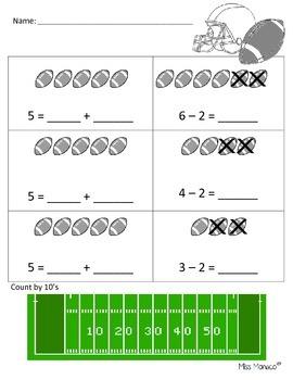 Football Math Activity