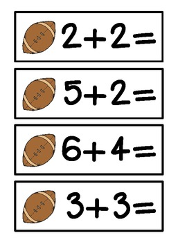 Football Math - Addition to 10