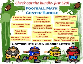 Football Math Center Bundle