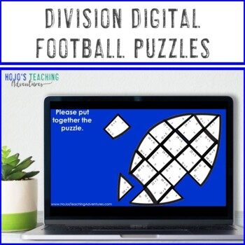 DIVISION Football Math Centers, Worksheet Alternatives, or Activities