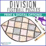 DIVISION Football Math Centers, Worksheet Alternatives, or