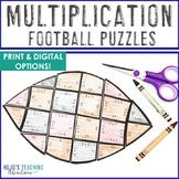 MULTIPLICATION Football Fact Games   FUN Sports Theme Math Classroom Supplement
