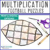MULTIPLICATION Football Math Activities, Games, or Centers