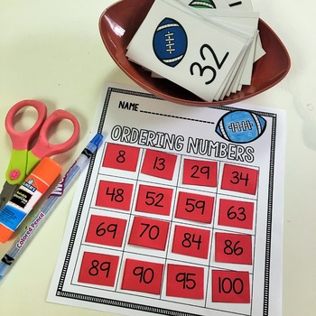 Football Math Centers & Printables