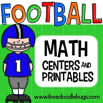 Football Math Centers & Printables