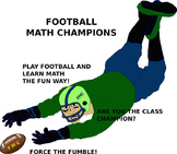 Football Math Champions Sports Math Game