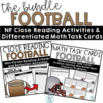 Football Problem Solving Task Cards and Close Reading