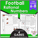 Football Math Rational Numbers Game