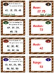 Football Math Skills & Learning Center (Measures of Data)