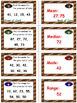 Football Math Skills & Learning Center (Measures of Data)