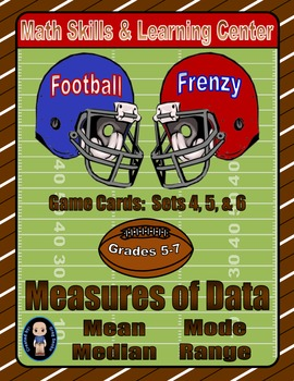 Football Frenzy Game Cards (Measures of Data) Sets 4, 5, 6