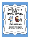 Football Math: Texas Teams-Problem Solving for 4th/5th, Common Core Aligned