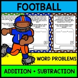 Football Math Word Problems - Addition - Subtraction - Special Education