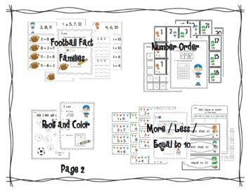 Football Math Work Stations