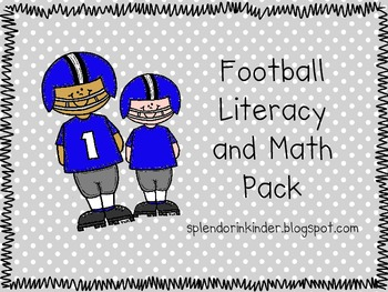 Football Math and Literacy Pack
