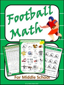 Football Math for Middle School