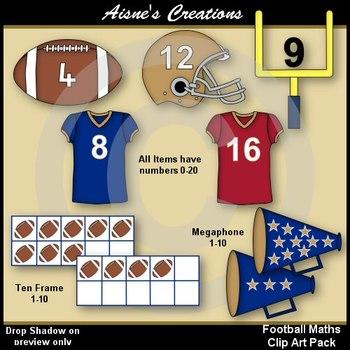 Football Maths Clip Art Pack