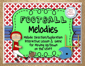 Football Melodies - Melodic Direction Up/Down: Interactive Lesson & Game