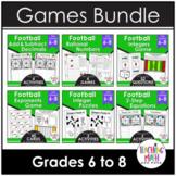 Football Middle School Math Activities & Games BUNDLE