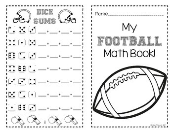 Football Mini Math Book! (No Prep)