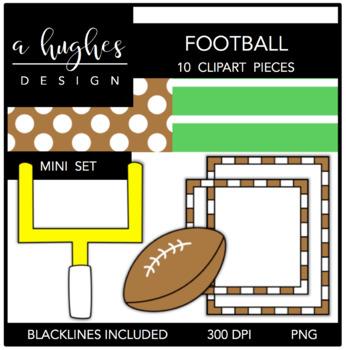 Football Mini Clipart Bundle {A Hughes Design}