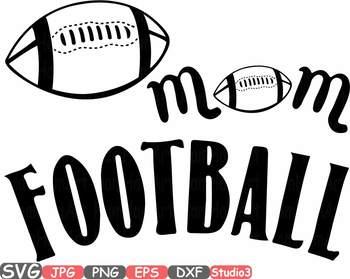 Football Mom Svg clipart School Spirit Sports Mom sport Football silhouette 697s