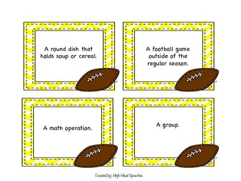 Football Multiple Meaning Words