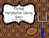 Football Multiplication Coloring Sheet