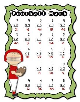 Football Multiplication Facts