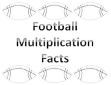Football Multiplication Flash Cards