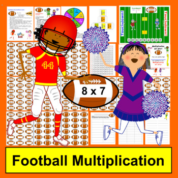 Football Multiplication Math Centers- 169 Facts - Common Core Aligned