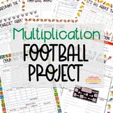 Football Multiplication Project | Print or Digital for Dis