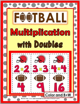 Multiplication Facts with Doubles - Football Multiplicatio