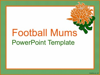 Football Mums PowerPoint Template