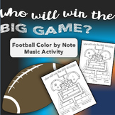 Football Music Activity - Color By Note