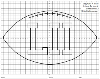 Four Quadrants Football Mystery Picture for Super Bowl