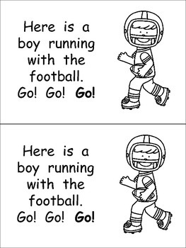 Football- Nonfiction Leveled Reader- Level C Kindergarten