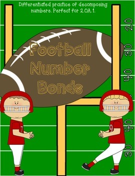 Football Number Bonds: Math Workstation