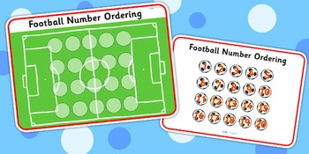 Football Number Ordering Activity