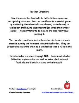 Football Numbers