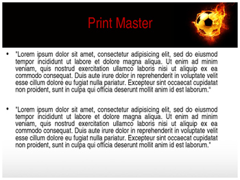 Football PPT Presentation Template