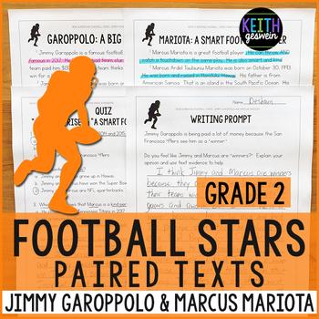 Football Paired Texts: Jimmy Garoppolo and Marcus Mariota (Grade 2)