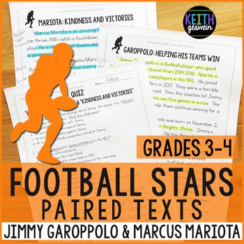 Football Paired Texts: Jimmy Garoppolo and Marcus Mariota (Grades 3-4)