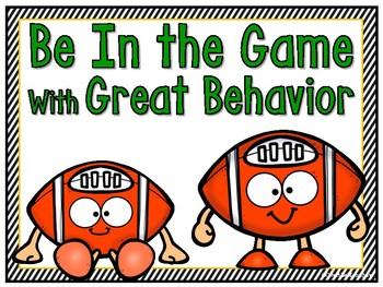 Football Pals Behavior Clip Chart