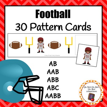 Patterns: Football Pattern Cards