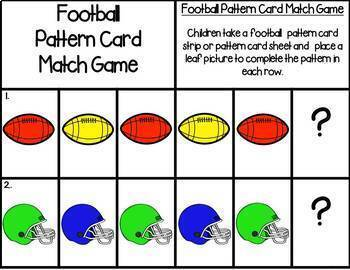 Football Pattern Cards {FREE}