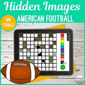 Football Photos 100 Trials No Print Hidden Images for Speech and Articulation