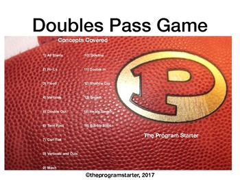 Football Playbook- Program Starter Doubles Passing Game