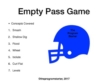 Football Playbook- Program Starter Empty Passing Game